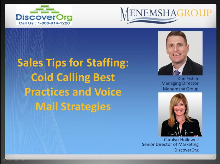 Sales Tips for Staffing