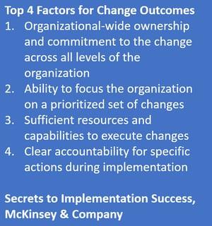 4 factors for change success mckinsey