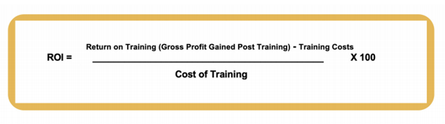 the formula for tracking and measuring sales and recruiter training ROI