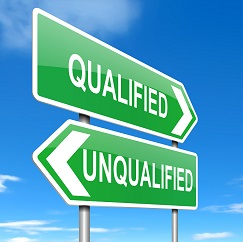 Three levels to sales qualification.
