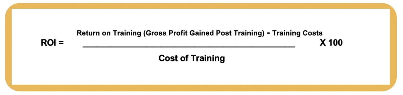 formula for sales training return on investment (roi)