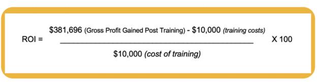 sales training ROI formula